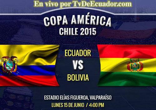ecuador-bolivia en vivo