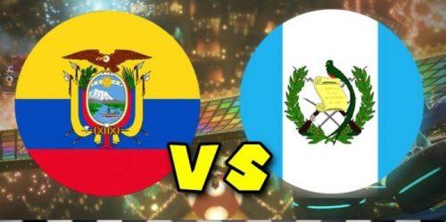 Ecuador vs Guatemala en vivo