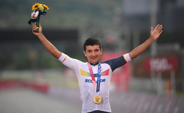 Carapaz medalla de oro Ecuador